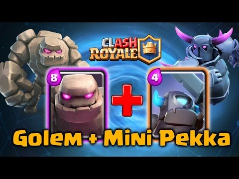 Clash royale best golem mini pekka deck and strategy for Deck pekka arene 6