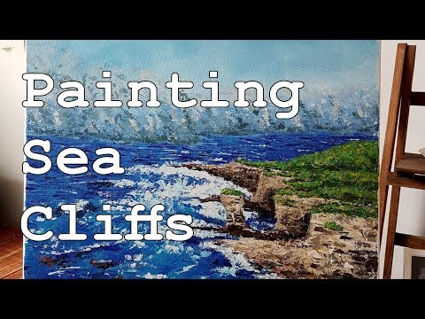 Acrylic Painting Timelapse // Sea Cliffs