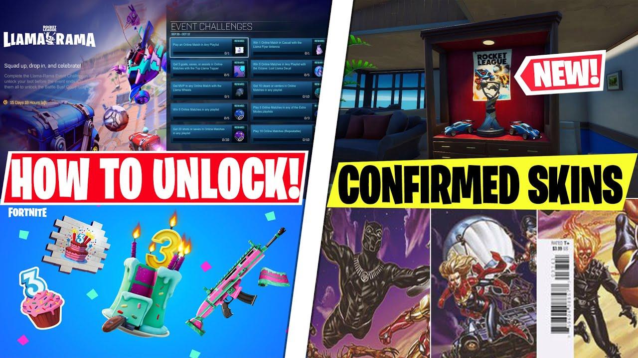 NEW Epic CONFIRMS Black Panther, Captain Marvel & Ghost Rider Skins! Rocket League POI/Rewards NOW!