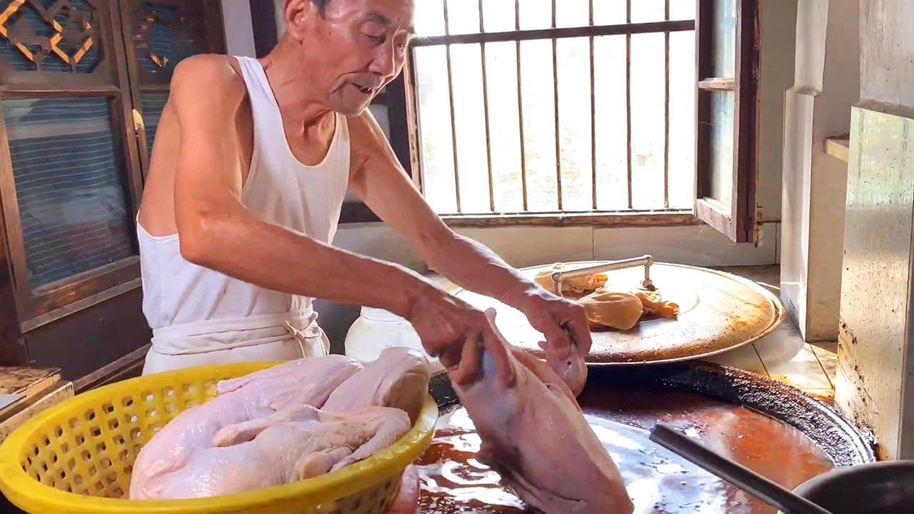 82岁老爷子做卤肉几十年,1958年传下来的老卤,一天只卤两锅!【唐哥美食】