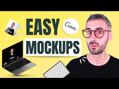 How to Create MOCKUPS in Canva - EASY! - T-shirt, Mug and Instagram Mockup Tutorial🎽☕📱