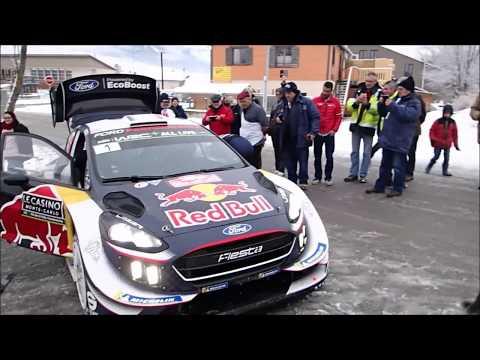 WRC - Rallye Monte-Carlo 2018 Sébastien Ogier change une roue à Chabottes