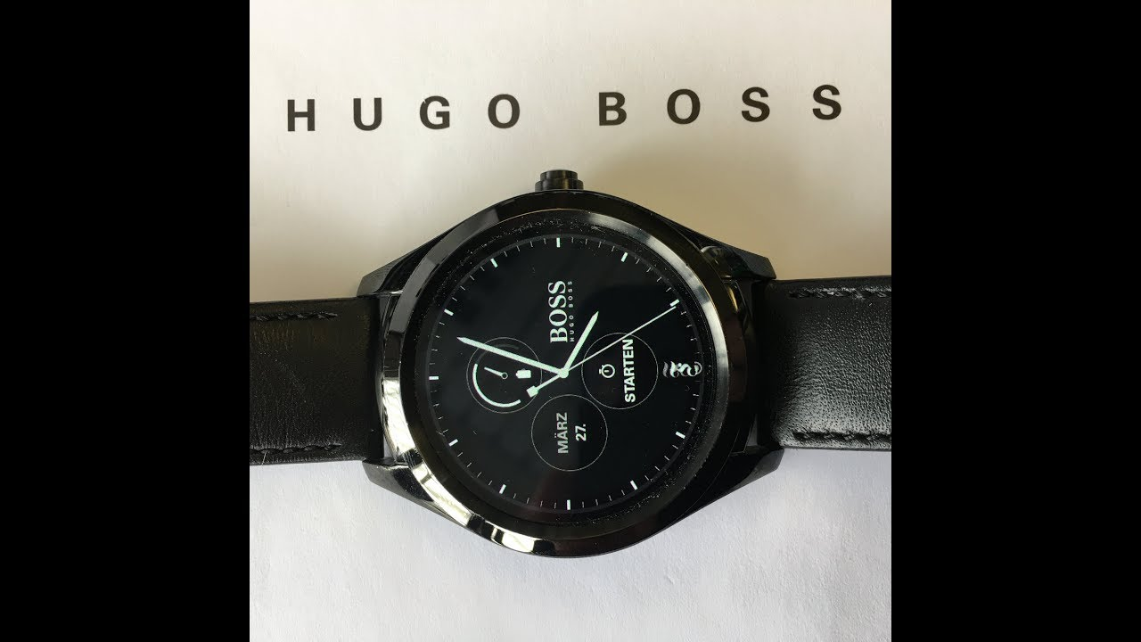 1b769fa1 Hugo Boss Touch Smartwatch Review - YouTube