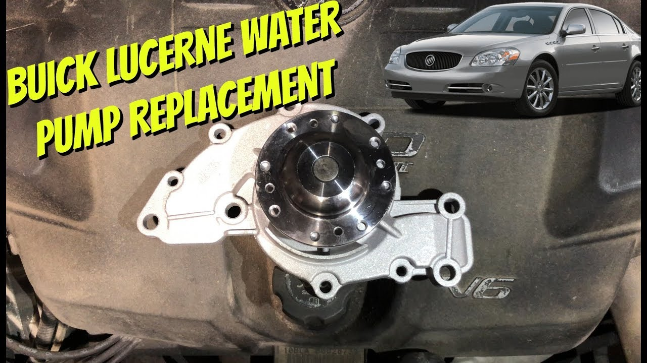 buick lucerne v6 water pump replacement 2005 2011 gm 3800 engine [ 1280 x 720 Pixel ]