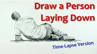 How to Draw a Person Laying Down - Time Lapse