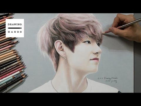 Speed Drawing BTS V [Drawing Hands]