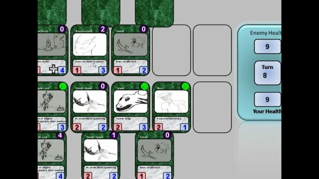 Game maker 8 1 card game youtube for Card game template maker