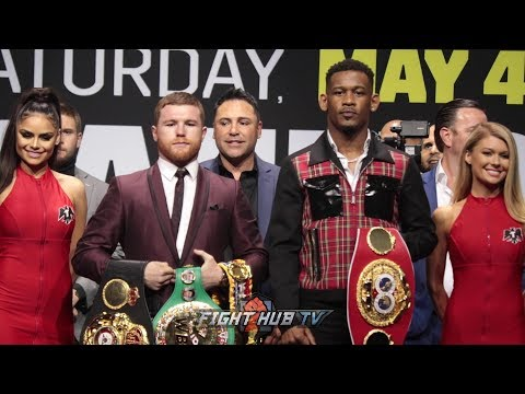 THE FULL CANELO ALVAREZ VS DANIEL JACOBS LOS ANGELES PRESS CONFERENCE AND FACE OFF VIDEO