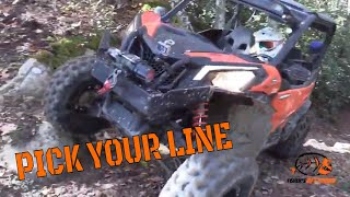 PICKING YOUR LINE ON DIFFICULT TERRAIN