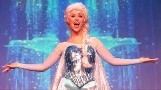 "Anna, Elsa & Kristoff ""Let it Go"" at Disney"
