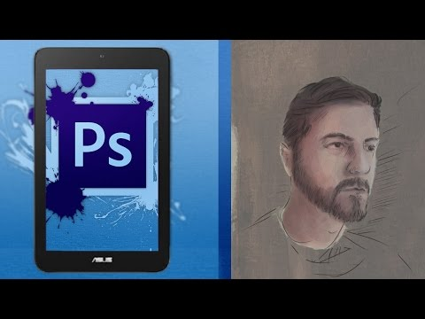 Asus Vivotab Note 8 Tablet Speed Painting with Photoshop