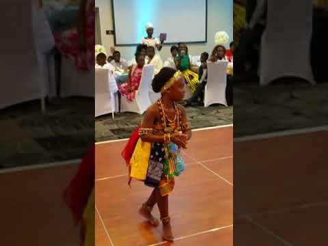 Adowa dance by father and daughter