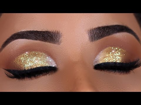 GOLD SPARKLY INDIAN BRIDAL EYE MAKEUP TUTORIAL thumbnail