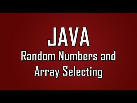 Learn Java - #23 - Random Numbers And Selecting From Arrays