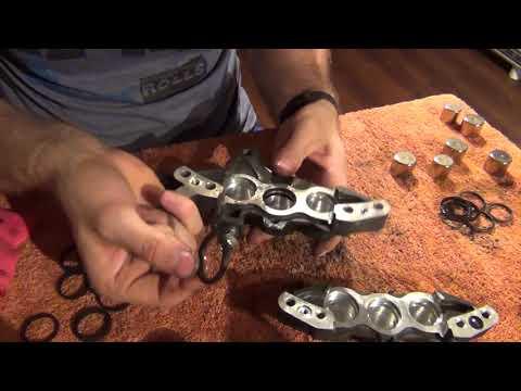 Tokico 6 pistons calipers rebuild / Hayabusa calipers rebuild