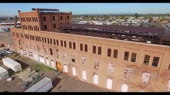 Beet Sugar Factory built 1906 historic place in Glendale Az DJI flyover