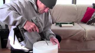 How to make Berkey water filter, or a toilet from a bucket.
