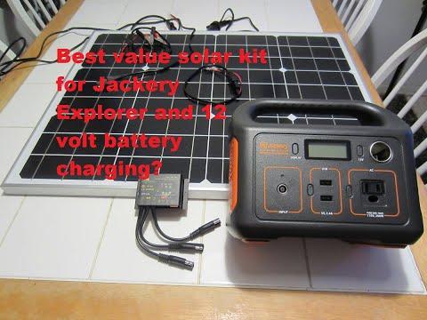 Suner 50 Watt Cheap No Hassle Solar Panel Kit For Jackery Explorer And 12 Volt Battery
