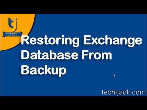Restore Exchange Database From Windows Server Backup