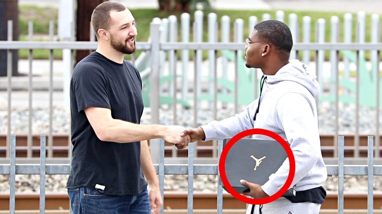 Giving Air Jordan's To Strangers