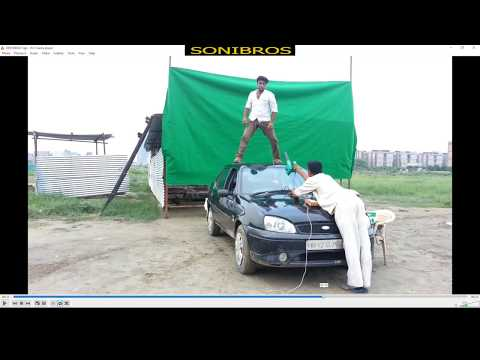 Green Screen Effects Driving Polce Car