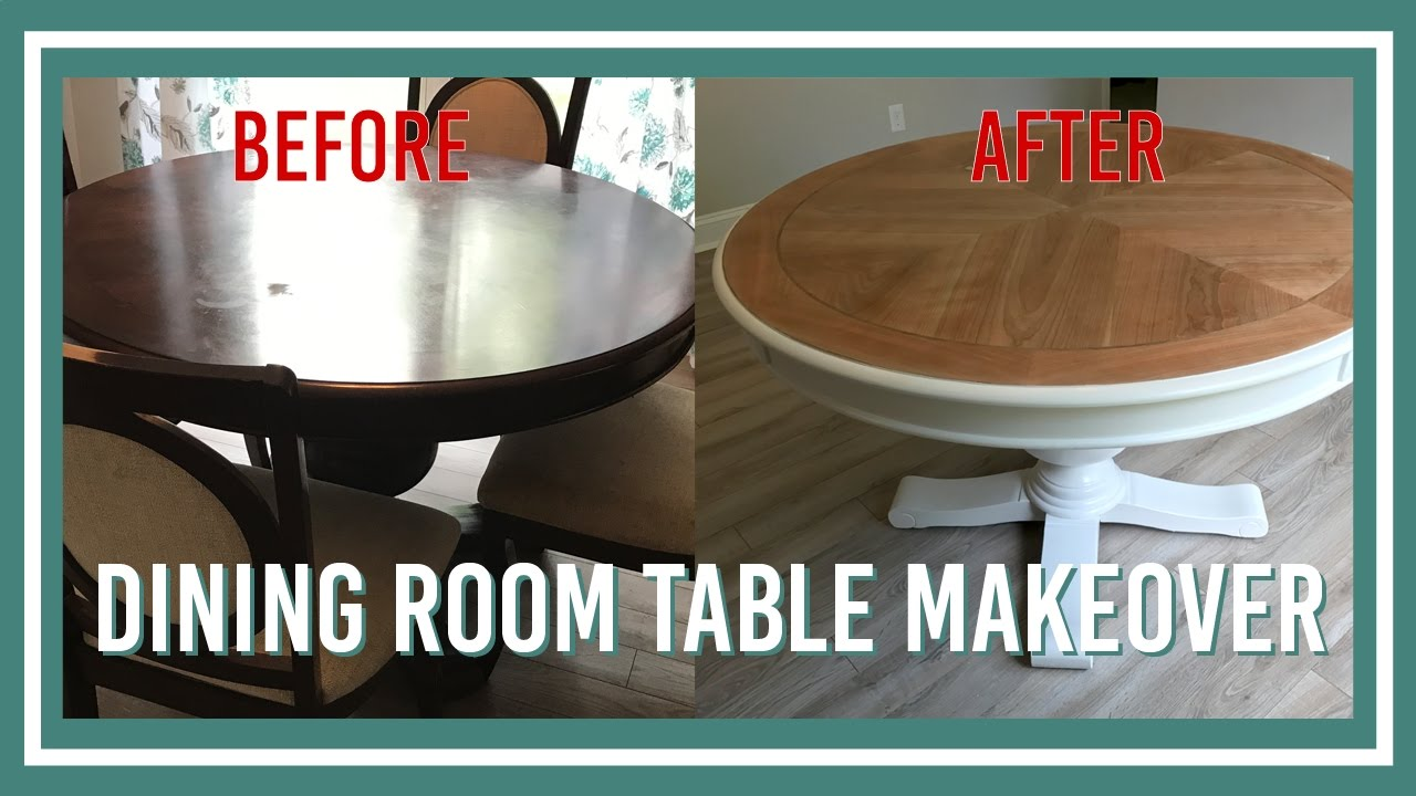 Dining room table makeover youtube for Dining room tables you tube