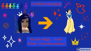 Roblox | Royale High - Snow White Transformation!