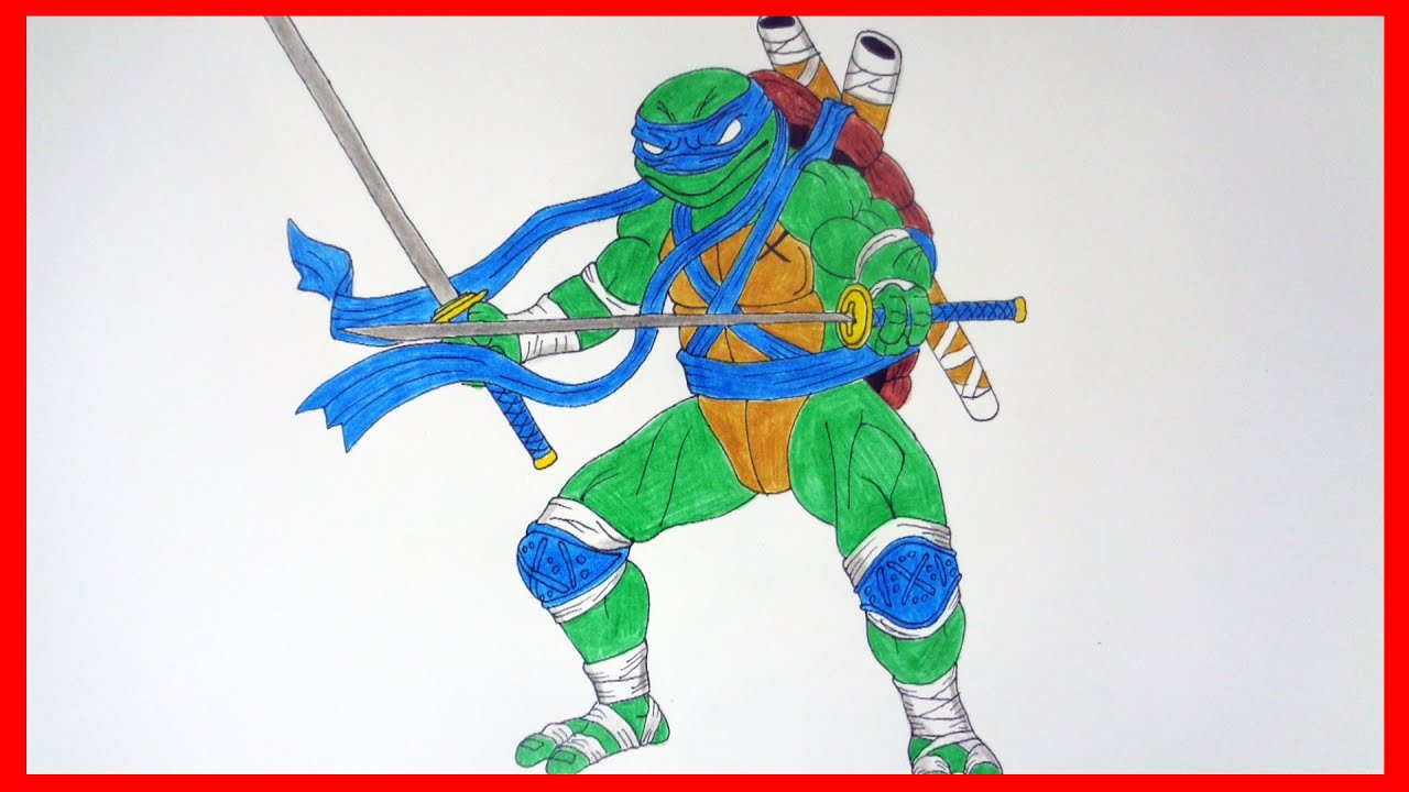 how to draw ninja turtles leonardo