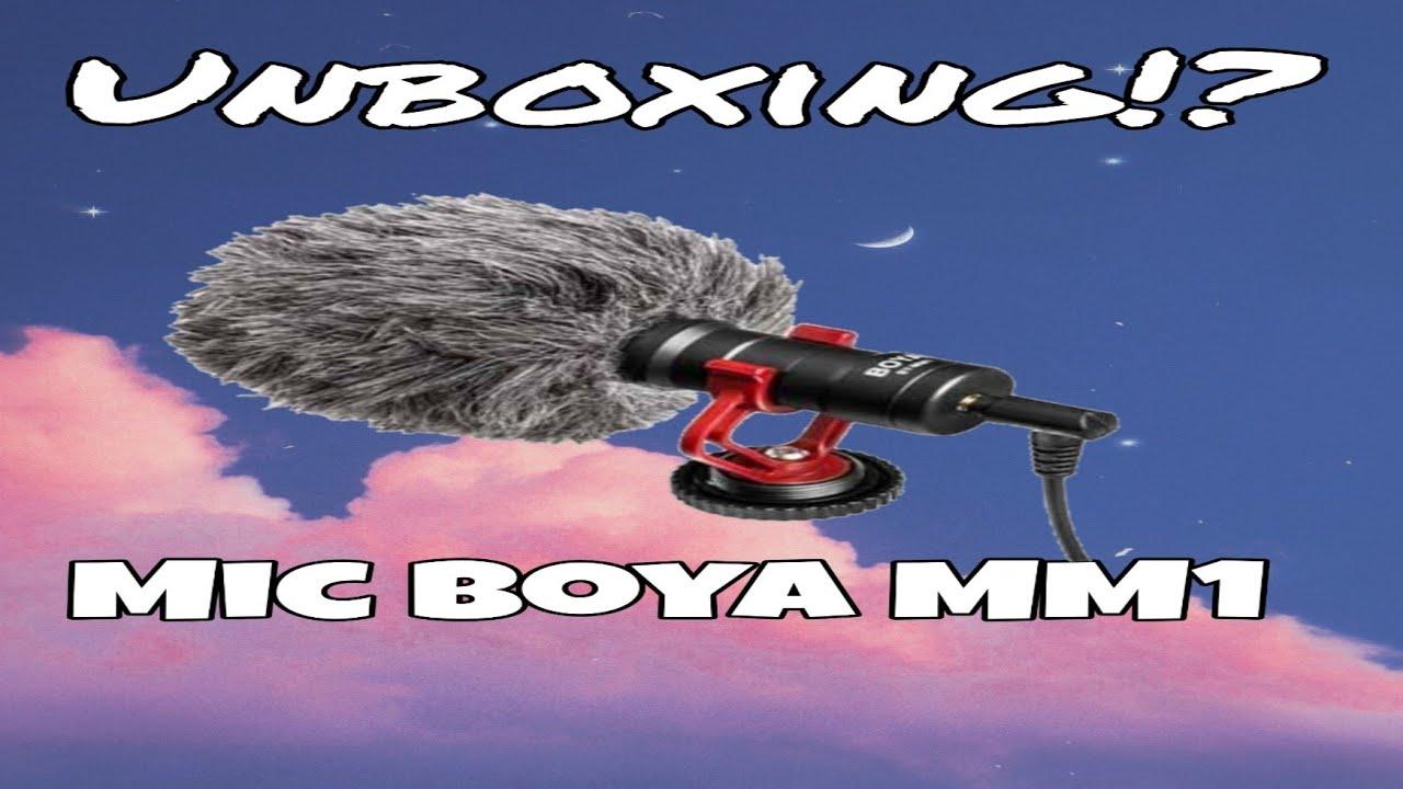 Unboxing paket ngevlog Mic Boya MM1||Face Reveal TwT||Unboxing