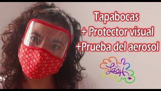 Tapabocas+Protector Visual+Prueba de aerosol+moldes incluidos|Taller Lash