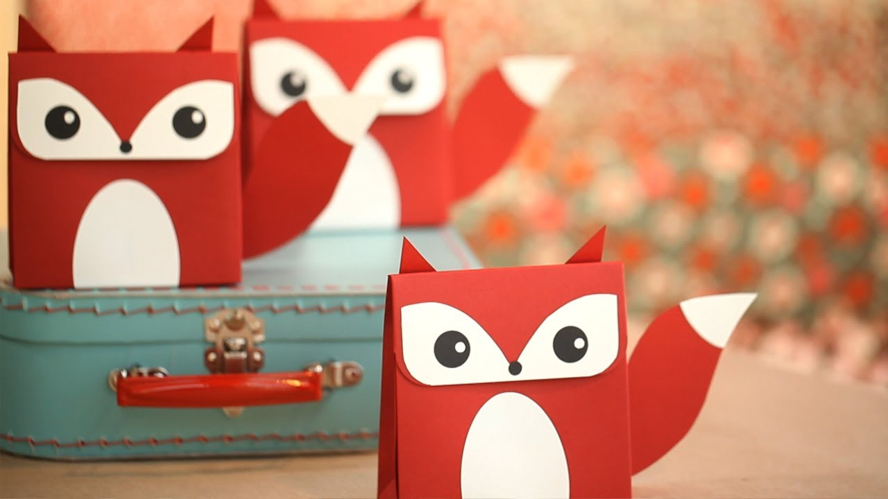 How To Make Fox Favor Boxes KIN DIY YouTube