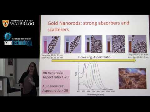 Professor Catherine Murphy - Waterloo Institute for Nanotechnology (WIN) Seminar