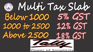 Tally ERP 9-GST Price Based Stock Item Tax Setup in Tally Part-10 (Hindi)|GST Multi Tax Rate Slab