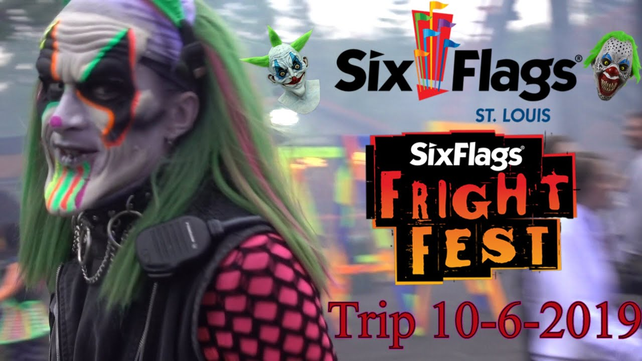 Six Flags St Louis Fright Fest Trip 10 6 2019 Youtube