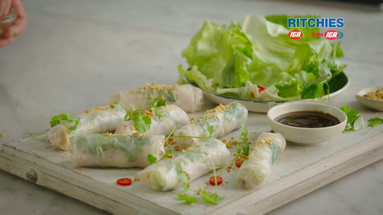 Vietnamese Style Chicken Rice Paper Spring Roll Youtube