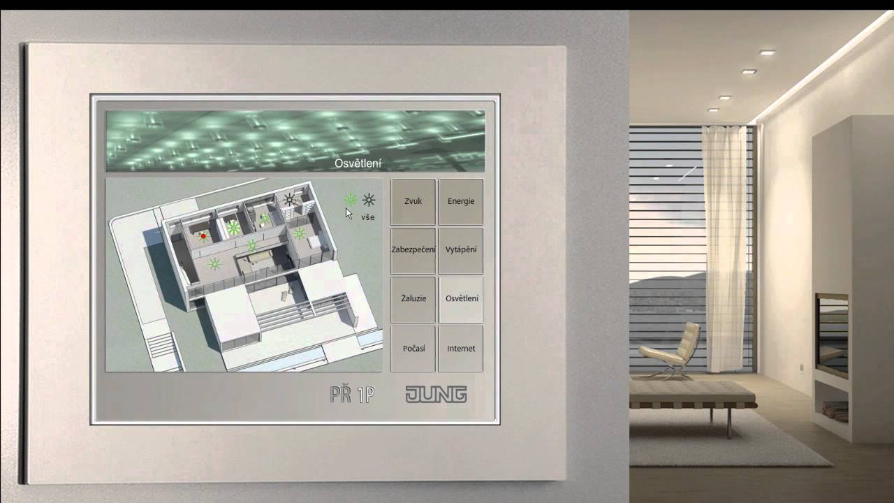 jung knx smart house youtube. Black Bedroom Furniture Sets. Home Design Ideas