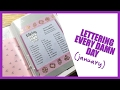 watch he video of Lettering Every Day Challenge Update | January 2017