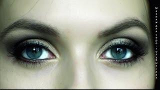 Макияж для серо-голубых глаз /sleek/коричневый смоки