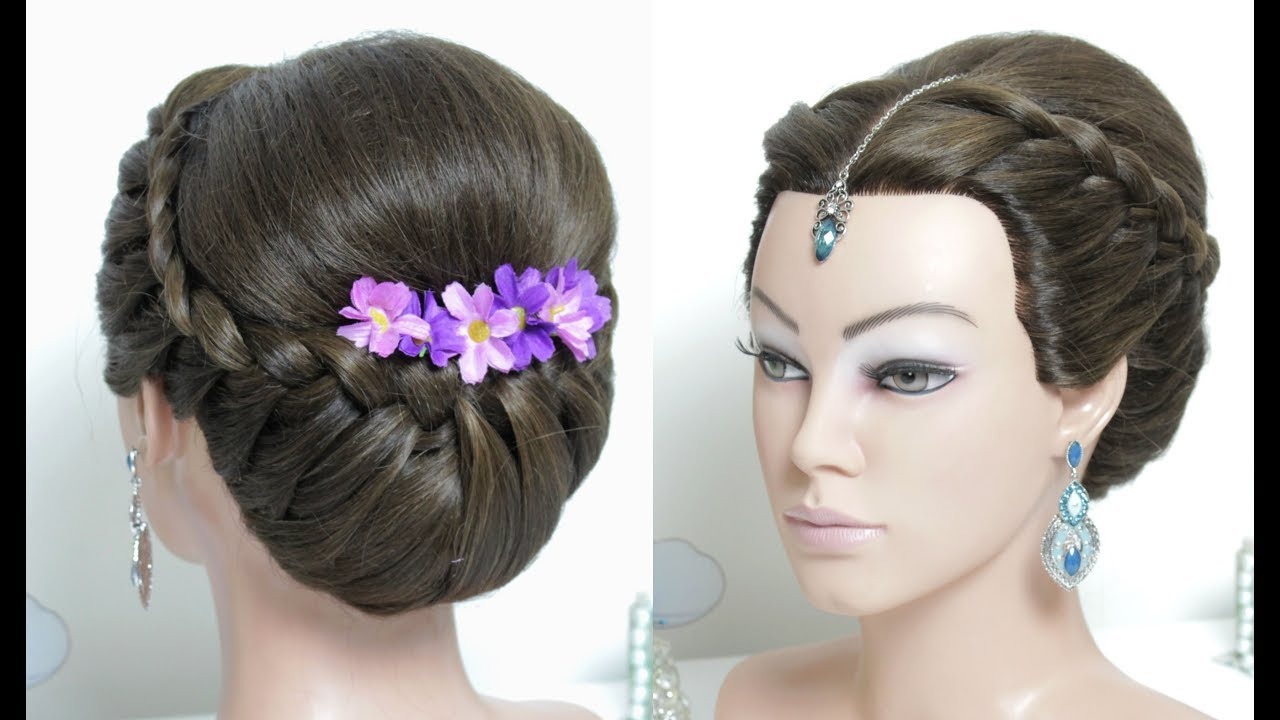Beautiful Hairstyle For Wedding, Function. Long Hair ...