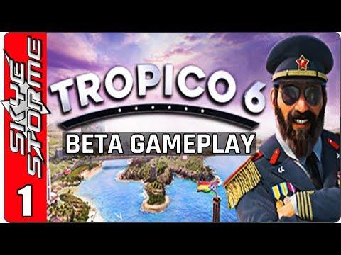 TROPICO 6 BETA GAMEPLAY ◀ Tutorial Part 1 ▶ (New Tycoon Strategy Game 2018)