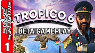 TROPICO 6 BETA GAMEPLAY ◀ Tutorial Part 1 ▶ (New Tycoon Strategy Game 2018)