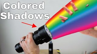 What Color Is a Shadow? The Colored Shadow Experiment
