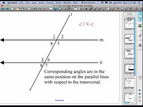 10 1 Line and Angle Relationships - YouTube