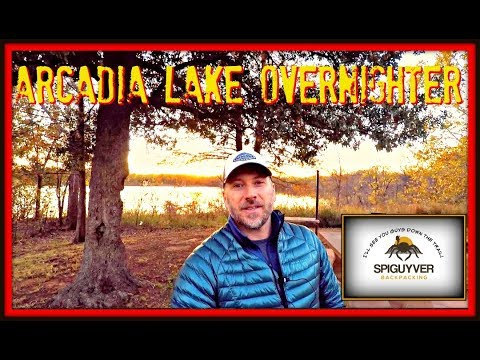Arcadia Lake overnighter  Testing hammock, quilts, stove and more