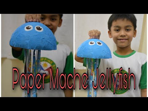 How To Make A Paper Mache Jellyfish / Paper Mache / Jellyfish / Sea Creatures