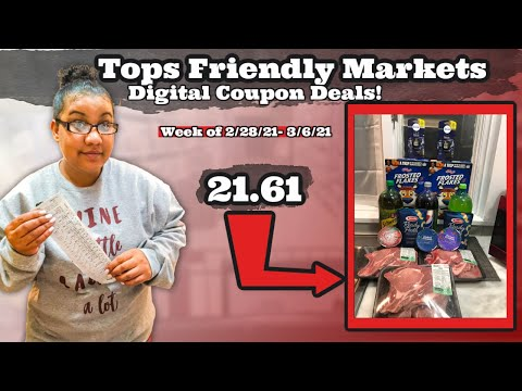 TOPS FRIENDLY MARKETS DIGITAL COUPON DEALS  Grocery Coupon Deals that you can do RIGHT NOW 