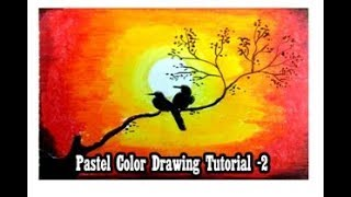 Beautiful Sunset Drawing with Pastel Color/How to Learn Drawing/Knowledge of Painting/Kids Drawing
