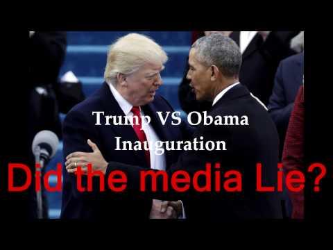 Donald Trump VS Barack Obama Inauguration Crowd| DID THE MEDIA LIE??? THE FACTS | 2009 VS 2017