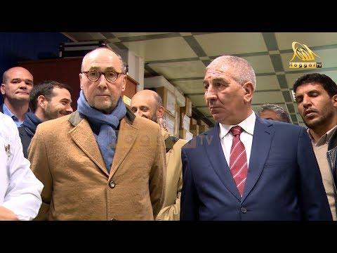 السيد عبد الرحمان بن حمادي يستقبل سفير فرنسا في زيارته الأولى إلى وحدات كوندور ببرج بوعريريج .