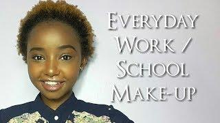 Begginer Friendly Everyday Makeup For Work Or School // DETAILED // Wabosha Maxine